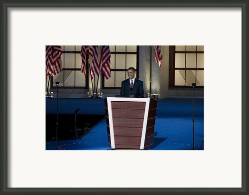Presidential Candidate Barack Obama Framed Print By Everett