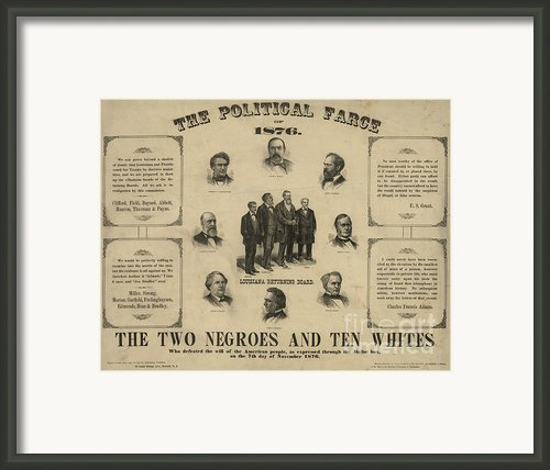 Presidential Election, 1876 Framed Print By Granger