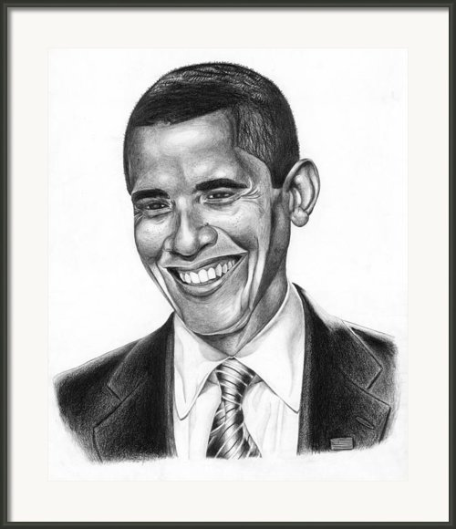 Presidential Smile Framed Print By Jeff Stroman
