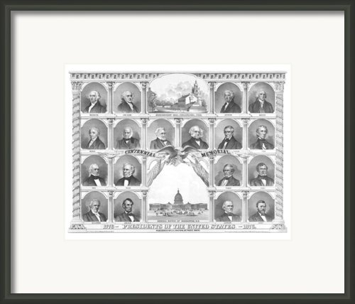 Presidents Of The United States 1776-1876 Framed Print By War Is Hell Store