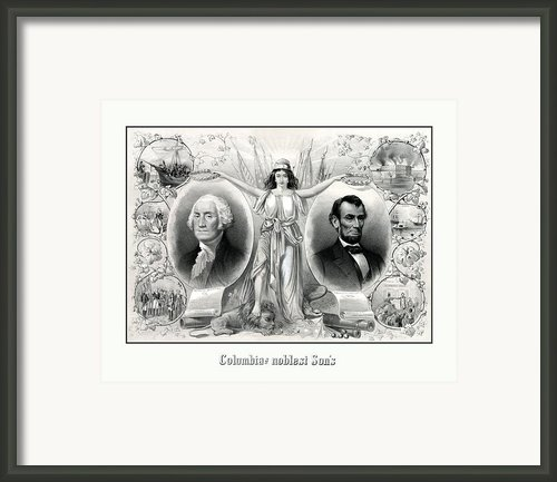 Presidents Washington And Lincoln Framed Print By War Is Hell Store