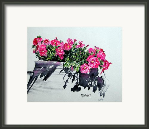 Pretty In Pink Framed Print By Maria Barry
