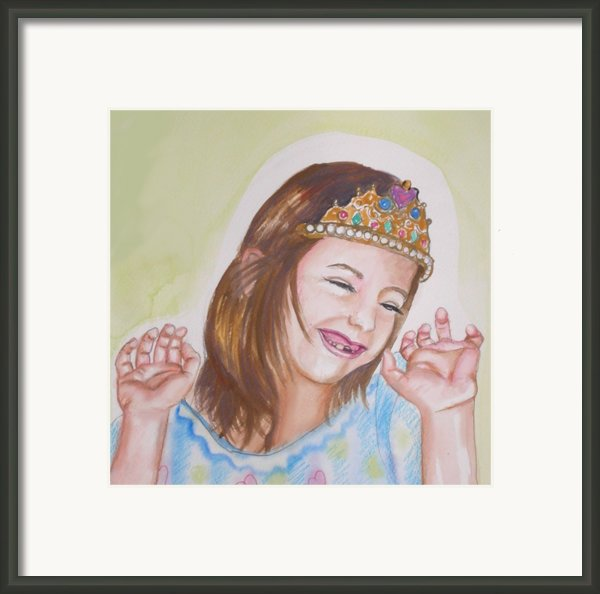Pretty Princess Framed Print By Anne Cameron Cutri