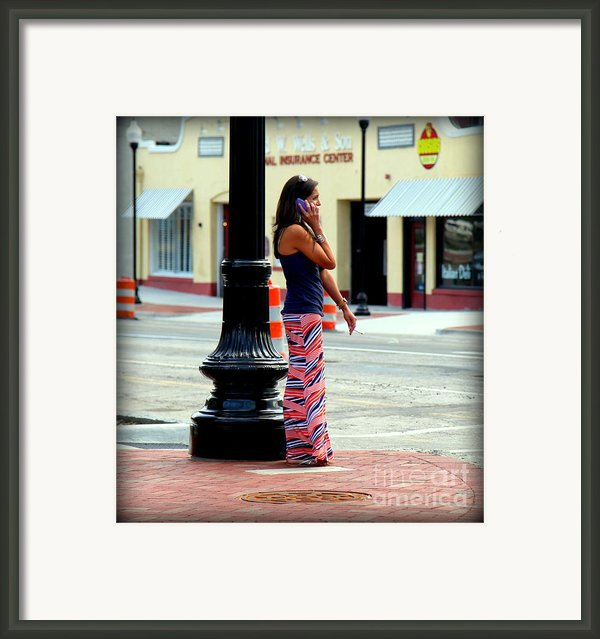 Pretty Woman Framed Print By Karen Wiles
