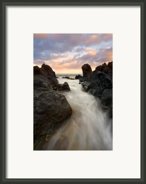 Primordial Tides Framed Print By Mike  Dawson
