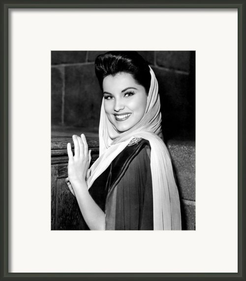 Prince Valiant, Debra Paget, On-set Framed Print By Everett