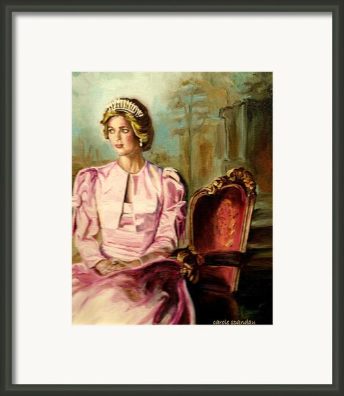 Princess Diana The Peoples Princess Framed Print By Carole Spandau