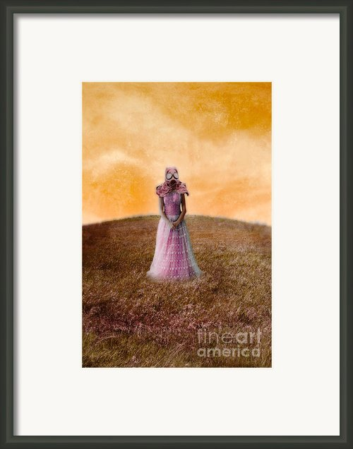 Princess In Gas Mask Framed Print By Jill Battaglia