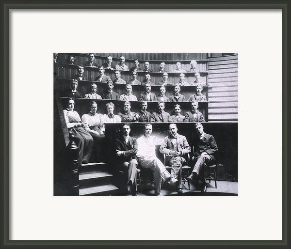 Professors Harvey Cushing, Howard Framed Print By Everett