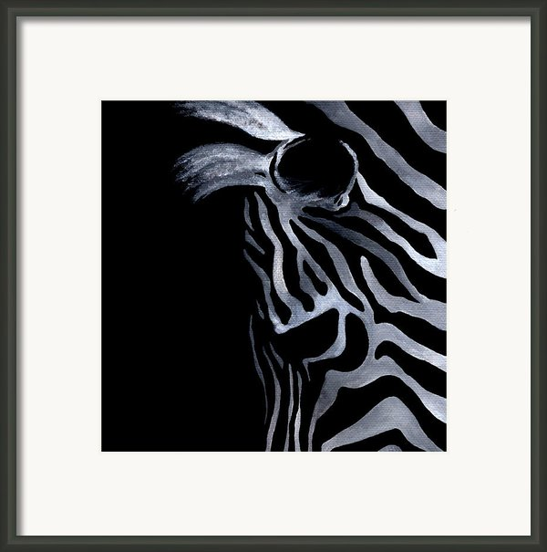 Profile Of Zebra Framed Print By Natasha Denger