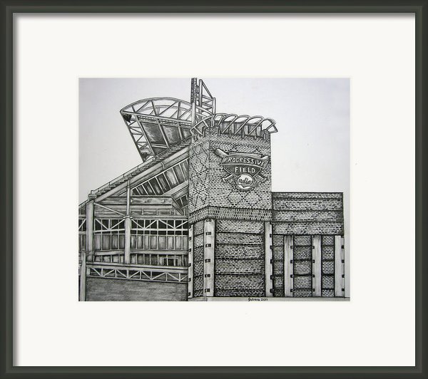 Progressive Field Framed Print By Juliana Dube