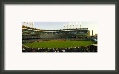 Progressive Field Framed Print By Tim  Telep