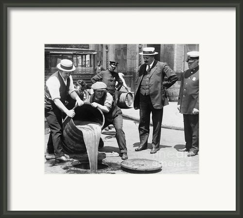 Prohibition, C1921 Framed Print By Granger