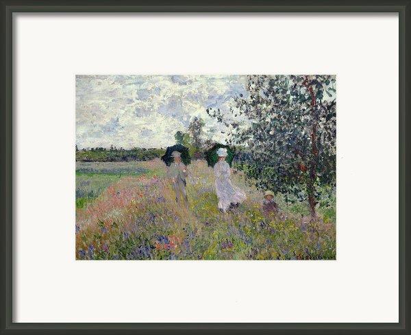 Promenade Near Argenteuil Framed Print By Claude Monet