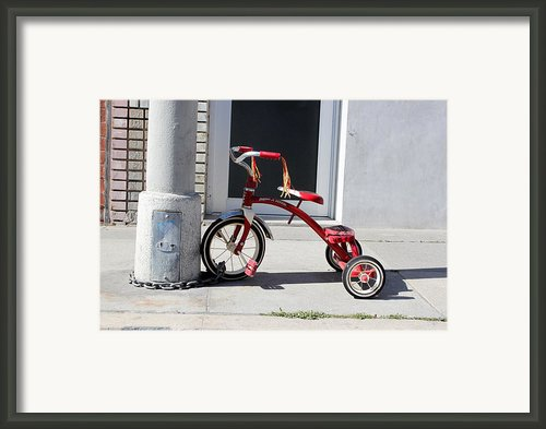 Protecting The Wheelz Framed Print By Robert Sebolt