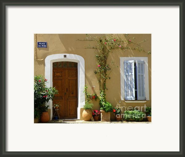 Provence Door 3 Framed Print By Lainie Wrightson