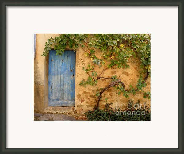 Provence Door 5 Framed Print By Lainie Wrightson