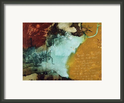 Proverbs Ii Framed Print By Michel  Keck