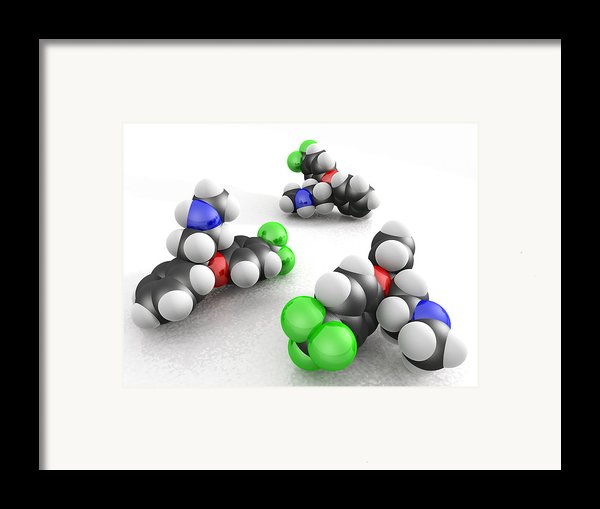 Prozac Molecules Framed Print By Phantatomix
