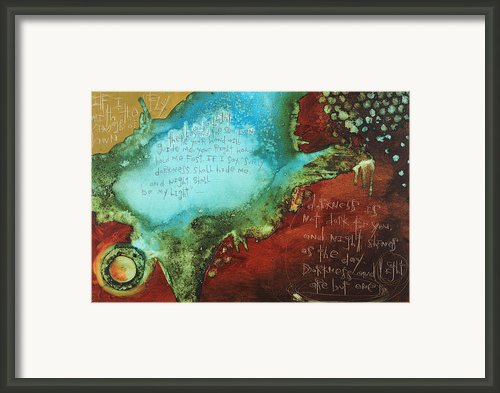 Psalm 139  Framed Print By Michel  Keck