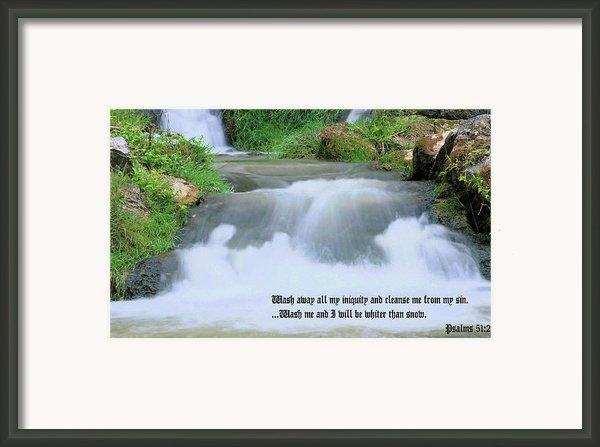 Psalm 51 2 Framed Print By Kristin Elmquist