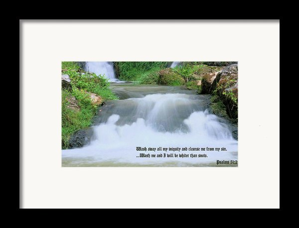 Psalm 51 2 Framed Print By Kristin Elmquist