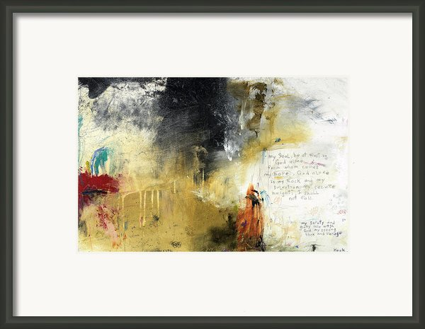 Psalm 62  Framed Print By Michel  Keck
