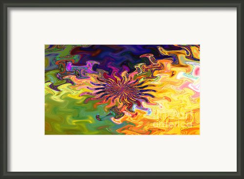 Psychedelic Flower - A Fractal Abstract Framed Print By Gina Manley