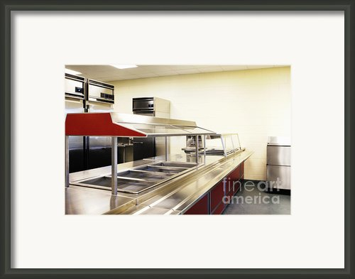 Public School Food Bins Framed Print By Skip Nall