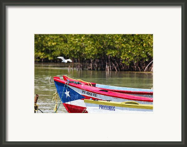 Puerto Rican Fishing Boats Framed Print By George Oze