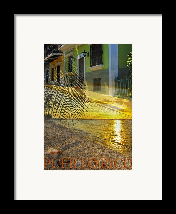 Puerto Rico Collage 3 Framed Print By Stephen Anderson