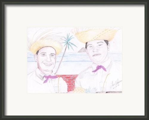 Puertorican Friends Framed Print By Jose Valeriano