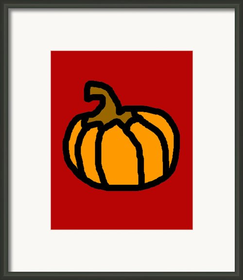 Pumpkin Framed Print By Jera Sky
