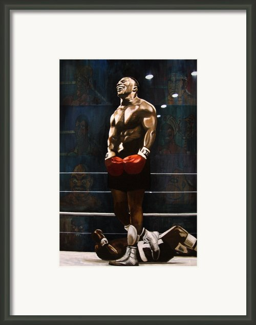 Punch Out - Mike Tyson Framed Print By Ryan Jones