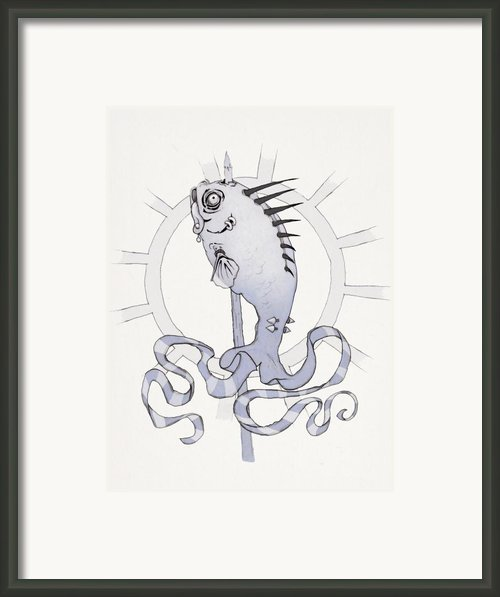 Punk Fish Framed Print By Ethan Harris