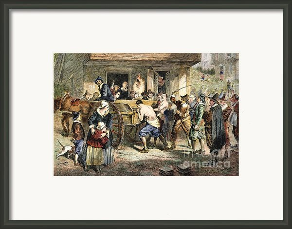Puritans: Punishment, 1670s Framed Print By Granger