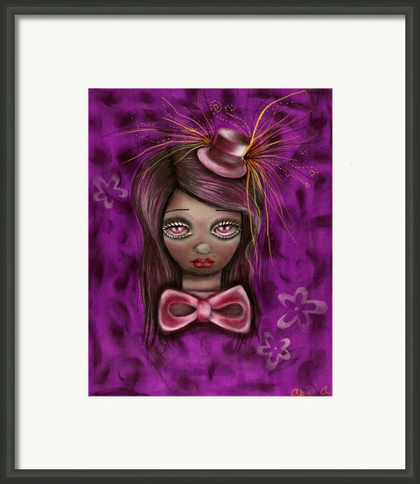 Purple Framed Print By  Abril Andrade Griffith