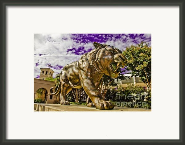 Purple And Gold Framed Print By Scott Pellegrin