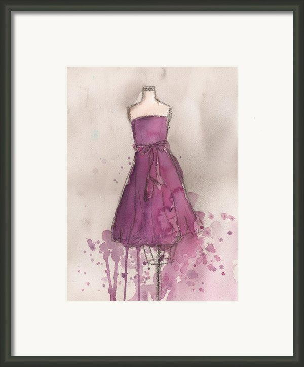 Purple Bow Dress Framed Print By Lauren Maurer