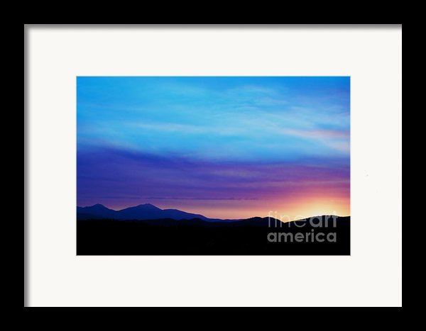 Purple Evening  Framed Print By Kevin Bone