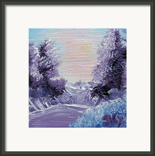 Purple Majesty Landscape Framed Print By Jera Sky