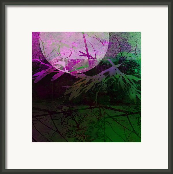 Purple Moon Framed Print By Ann Powell