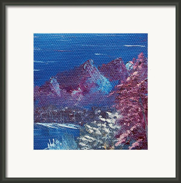 Purple Mountain Landscape Framed Print By Jera Sky