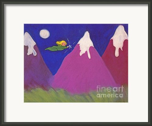 Purple Mountains Majesty Framed Print By Christine Crosby