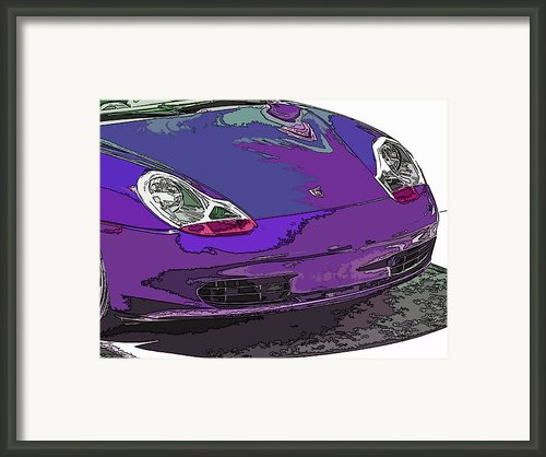 Purple Porsche Nose 2 Framed Print By Samuel Sheats