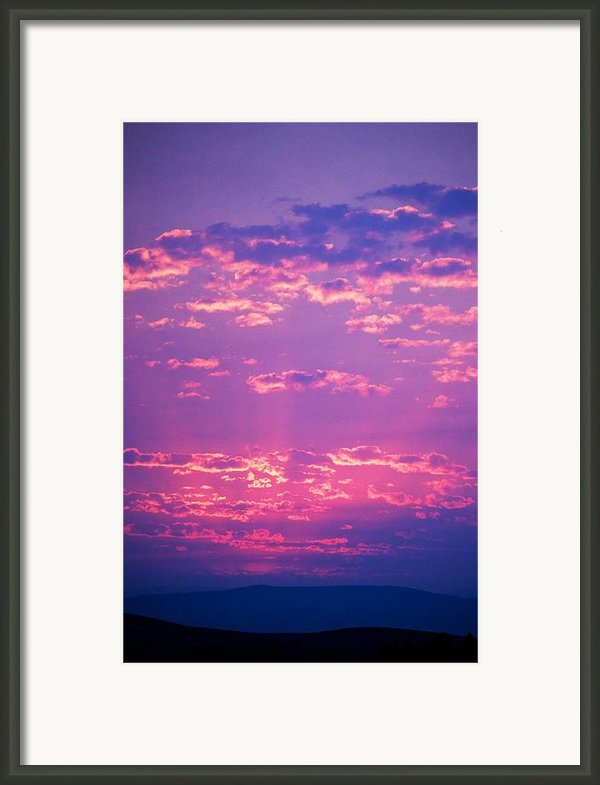 Purple Sky  Framed Print By Kevin Bone