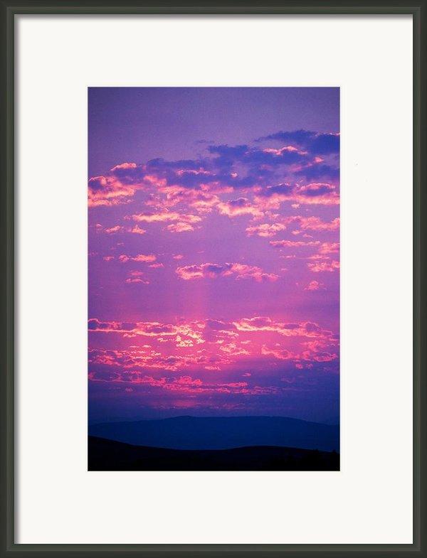 Purple Sky  Framed Print By Kevin Bone