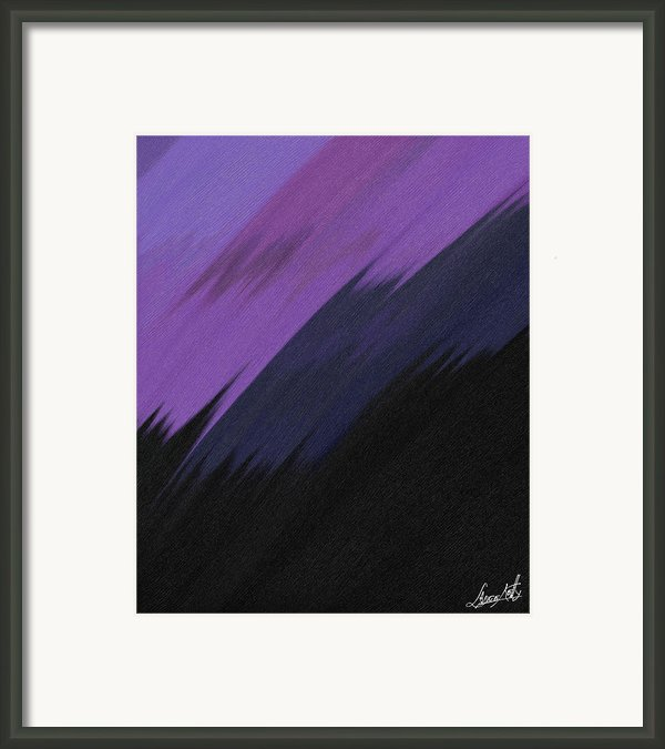 Purple Sunrise Framed Print By Lance  Kelly