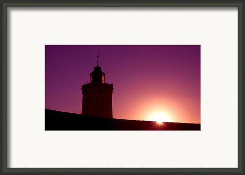 Purple Sunset Framed Print By Thomas Splietker