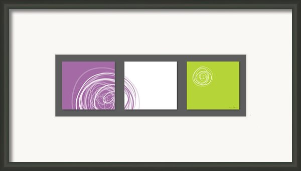 Purple Twirl Framed Print By Nomi Elboim